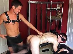 BDSM cute outdoor night snow boy all tied up