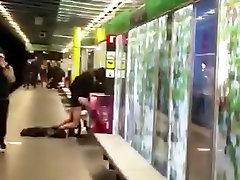 Fun public fuck in metro