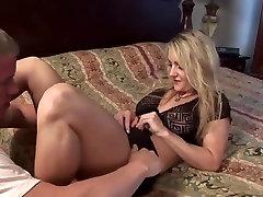Blonde anjela juli cougar fucks younger guy