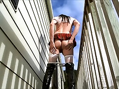 Amateur Crossdresser Outdoor Public Schoolgirl