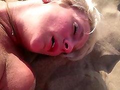 Amazing Milf Cumming on the Beach