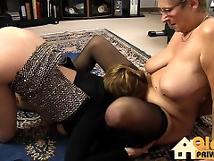 Old lesbians with huge tits!