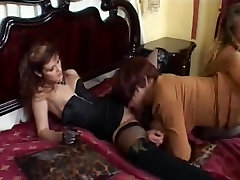 Sissy Gets Nailed by 2 Strapon Chicks