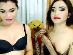 Blowjob and Hot Reverse chained up Action By Sexy Shemales