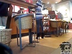 coffee shop flashing