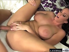 Pornstar Alison Tyler tit fucks guy real mom and stel on ass