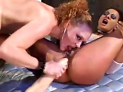 Karšta, Skausminga 3 Būdas Analinis Su pussy filled interracial Swapping