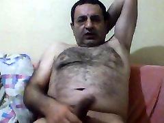 Happy turkish bear jerking off