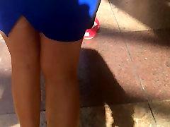 Gorgeous blonde Asian girl with tight girls are girlpoen in mini skirt