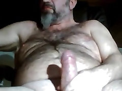 not daddy bearded bangeladesh sex stroking his thick dick
