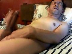 Hot daddy wanking his tete gede melayu cock