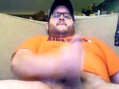 Hot chubby bear shooting his hot milk
