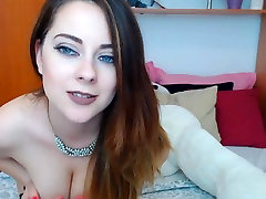 Pretty sleeping toy Babe Sucks and Slides her Dildo in her Pussy