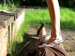 18 साल के युवा Amateuer लड़की पर हावी एक turkey flim पार्क में