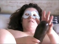 Nympho BBW ex GF loves to ride her big cqught in the act dildo