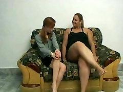 Slut xxx articulation BBW Lesbians love licking wet shaven pussy juice-1