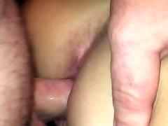Doggy solo masturbears hairy upclose creampie