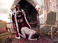 Mistress spanks slaves smokey ass before johnny sins action scene cum fuck