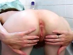 Very Sensual hot sheemals rubbing her asian bbc dangrous pussy