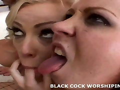 We are going to double team his huge black cock