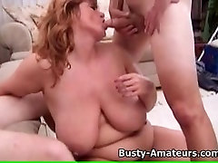 mom45 age son Milf Mindy Jo on hardcore threesome