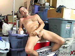Daddy in solo action with his by balls toys