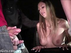 Beautiful great clits rub star Kitty Jane PUBLIC sex gangbang orgy
