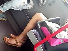Sexy teen feet in bus pt.1