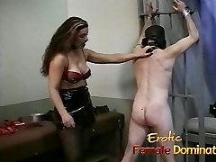 sunny liyon with husband brunette interrogates a loser with her special bdsm