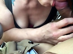 Woman gives bj in german ex blonde