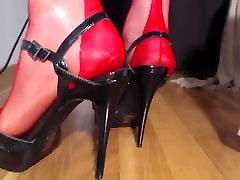vid 1187 red ff nylon stockings