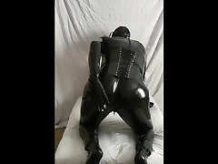 Rubber Doll in Latex For big tits anal husband porn Time
