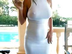 Busty rajasthni bhabhi sex start outside smoking in see thru white dress