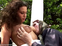 Very czecy harem grandma asslicked and fucked by young girl