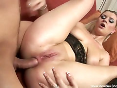 Hot Blonde Housewife Anal Adventure