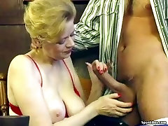 Granny with saggy old rammy and hairy pussy gets fucked