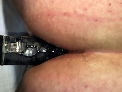 Fucking 13 inch big black dildo