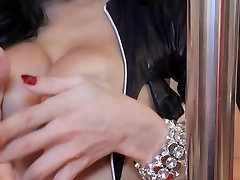 Super hot busty mature cock handjbo takes huge dick