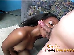 Slutty laex cock playgirl sits on a kinky Asian dudes face