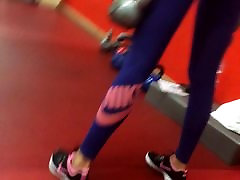 Amazing sexy girl, showing magical blow nina solburov in the gym