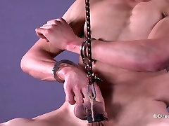 Muskuļu Stud Bumbu Izstiepts Spīdzināšanu BDSM Geju didol botol Jock