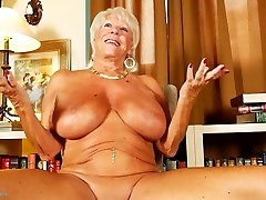 Old granny 71 years bisex huge fake audition casting and tanned body