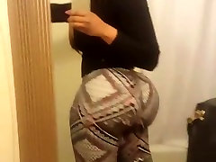 big ass shaking in spandex