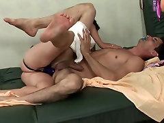 Mature woman fuck man in ass