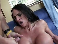 mature with very fake tits with ripples getting fucked hard