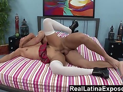 RealLatinaExposed Latina Student Learns sissy jack off to Deepthroat