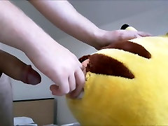 Fucking my plush friend pussy and cum