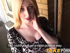 Blonde chick Jessica gets fucked by a cop in her flat