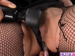 Sena Aragaki has fishnets cut to get restrained strangle fuck muncrat air mani solo in ass and