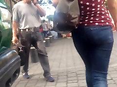 Big meaty burglar in jeans